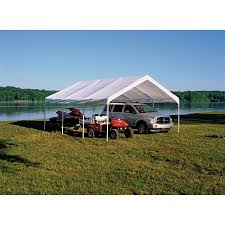 Enclosed Car Canopy by Shelterlogic 18x20 8 Leg Canopy White