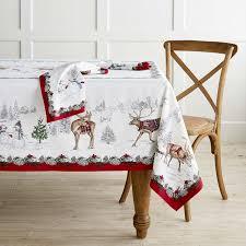 snowman tablecloth williams sonoma