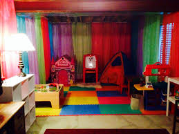 unfinished basement playroom basement space pinterest