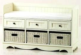 Bathroom Storage Box Seat Bench Entryway Storage With Baskets Regarding Amazing Residence