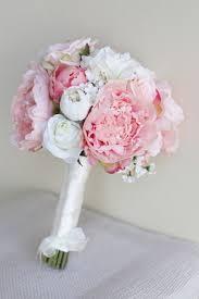 Silk Bridal Bouquet Silk Bridal Bouquet Peony Peonies Roses Ranunculus