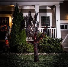 Orange Led Halloween Lights by Halloween W Orange Outdoor Decor Tree Lights Spooky Black Led