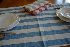 extra wide table runners extra wide striped linen table runners 130x65cm the crockery barn