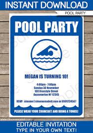 pool party invitations templates free haskovo me