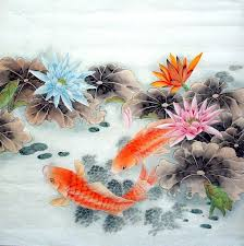 chinese painting chinese paintings koi fish
