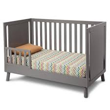 delta convertible crib toddler rail delta children manhattan 3 in 1 crib in grey free shipping