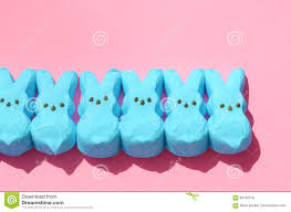 easter marshmallow candy blue easter candy marshmallow rabbits stock photo image 90182578