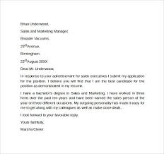Example Resume Letter by Cover Letter Examples For Sales Resume