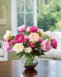 where to buy peonies buy customer favorite deluxe peony silk flower centerpiece at petals