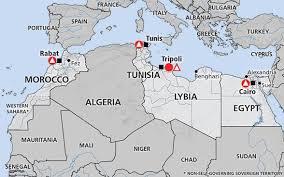tunisia on africa map africa tunisia libya morocco algeria