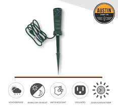 Outdoor Daily Photocell Timer 1 by Amazon Com Outdoor Timer With Stake Pole Photocell Light