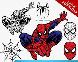 vector clipart spiderman pencil color vector clipart