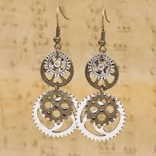 types of earrings for women steunk earrings antique bronze gear pendants earring type drop