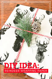 diy reindeer wrapping paper this worthey life