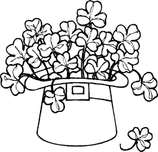 shamrock coloring page and itgod me