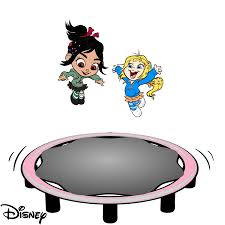 image vanellope u0026 vicky bouncing sugar rush trampoline