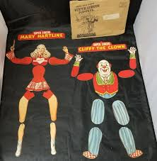circus puppets hartline cliffy clown snickers paper marionette