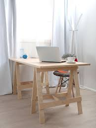 Diy Trestle Desk Simple Small Diy Home Office Furniture Decoration With Diy Wood