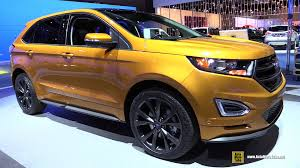 Ford Edge Interior Pictures 2015 Ford Edge Sport Awd Exterior And Interior Walkaround