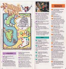 Cedar Fair Parks Map Disneyland 1989 Park Map And Brochure