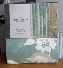 Threshold Medallion Shower Curtain by Gifts Geometric Bathroom Decor Mint Green Pattern Shower Curtain