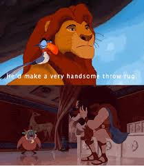 hercules lion king scar rug gif clevver