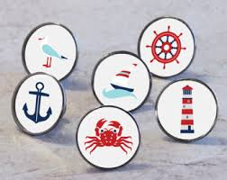 themed knobs sea themed knobs etsy