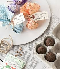 seed favors diy wedding favors seed bombs