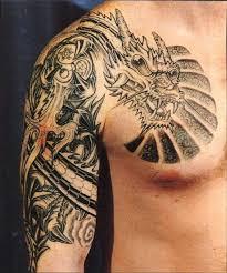 shaolin tribal tiger dragon tattoo ideas