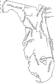 Map Of St Augustine Fl Indian Tribes Of The 16th Century 1600