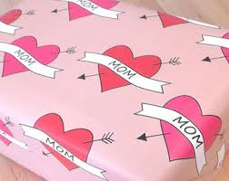 heart wrapping paper wrapping paper etsy