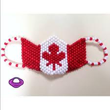 bead mask kandi canada flag mask custom flag mask custom flags
