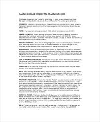 apartment lease agreement 9 free pdf word download documents