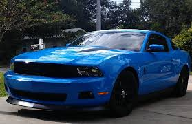 Blue And Black Mustang Pictures Of Wheels On A Grabber Blue Gt Ford Mustang Forum