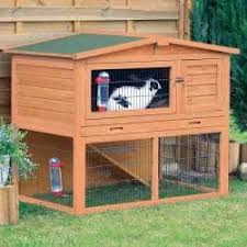 Rabbit Hutch With Detachable Run Trixie Extra Large Rabbit Hutch With Attic Free Shipping Today