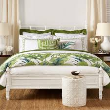 Green Double Duvet Cover Cane Embroidery Bedding Williams Sonoma
