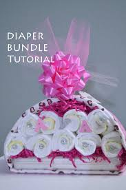 tutorial diaper stork bundle easy baby shower gift diaper bundle