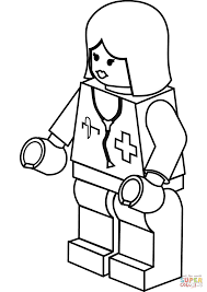 lego lady doctor coloring page free printable coloring pages