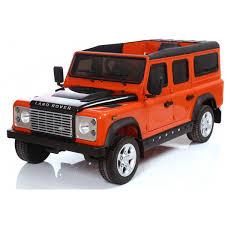 land rover orange kids licensed land rover defender 12v electric orange