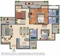 floor plan geotech pristine avenue gaur city 2