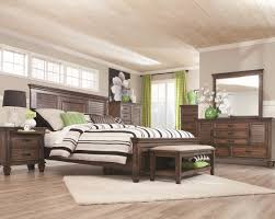 franco collection 200971 bedroom set in rustic burnished oak by