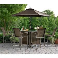 Patio Furniture Set With Umbrella Patio Glamorous Bistro Set With Umbrella Sets Inside Outdoor Bar