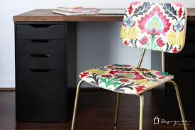 How To Reupholster A Bar Stool How To Decoupage Furniture For An Upholstered Look Designer Trapped