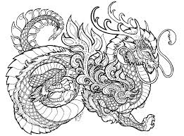 clever dragon coloring pages for adults dragon to download and