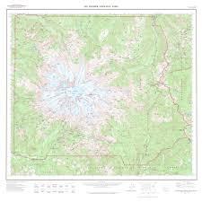 Map Of Alderwood Mall Mt Rainier National Park Wall Map Topographic Map Of Mt Rainier
