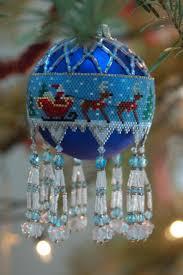 48 best beading christmas ornaments images on pinterest beaded