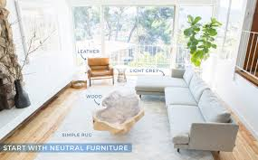how to add style to a neutral living room emily henderson