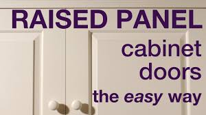 Kitchen Cabinet Doors Mdf How To Make Raised Panel Cabinet Doors In Mdf Youtube