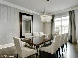 Wallpaper Designs For Dining Room Dining Room With Chandelier U0026 High Ceiling In Bethesda Md