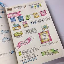 Bullet Journal Tips And Tricks by Gathered All My Favourite Headers For My Daily Spreads In One